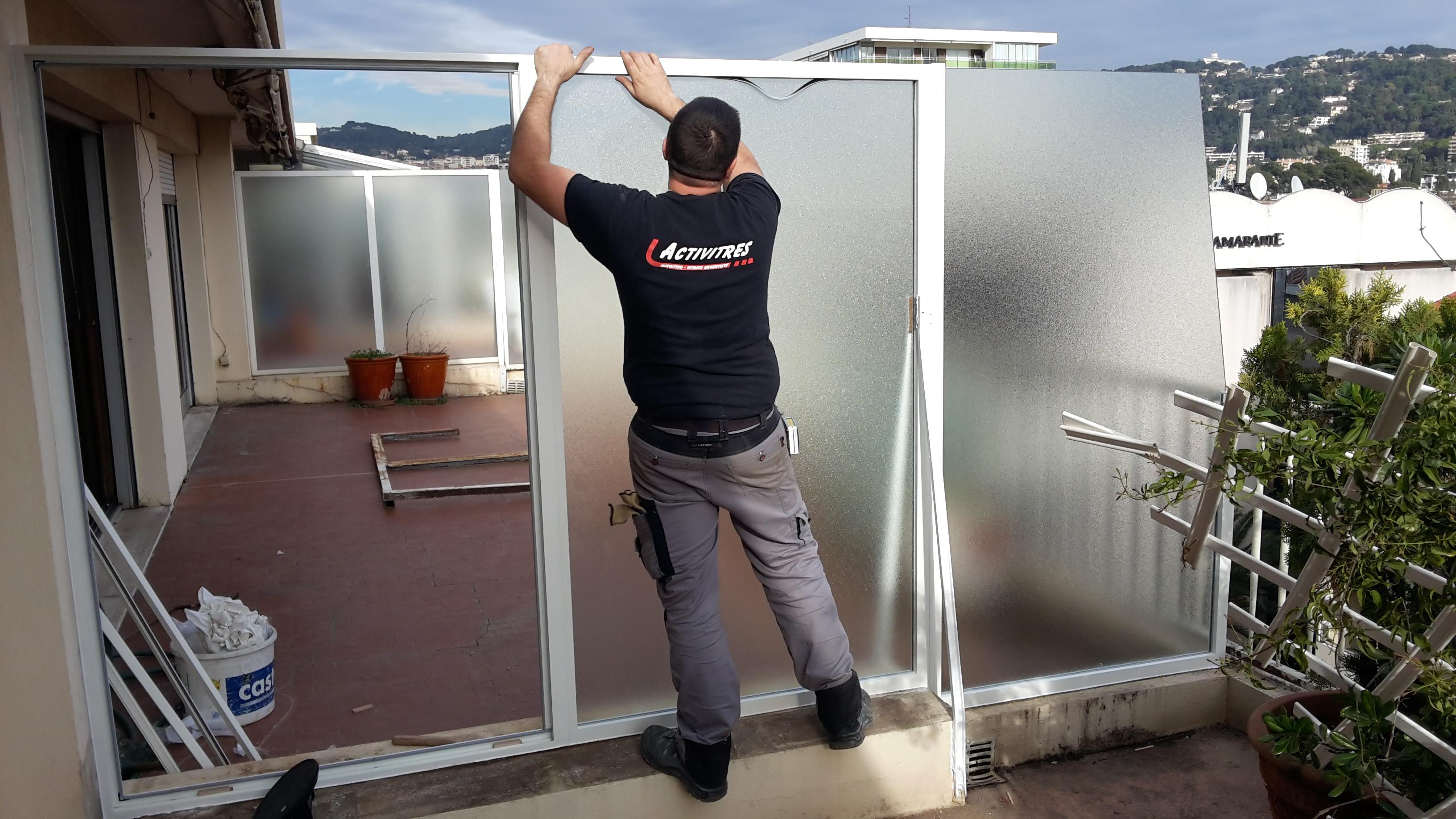 Remplacement séparation balcon