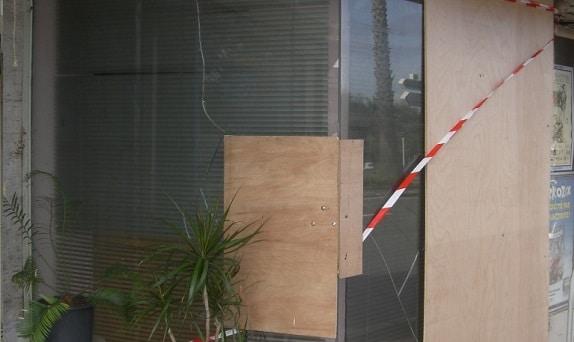 sécurisation de vitrine